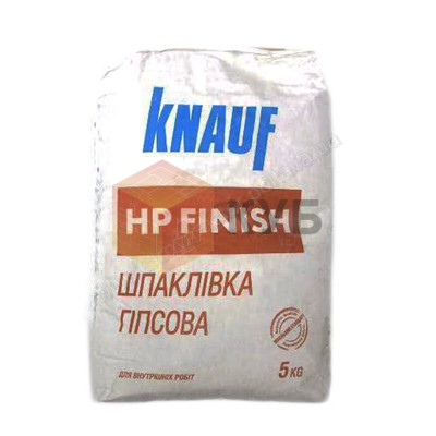 Шпаклевка гипсовая KNAUF HP Finish (Кнауф Финиш) (5 кг) карт. 1