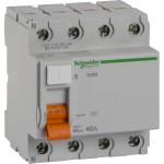 УЗО 4Р 40 а (100 мА) Schneider Electric Домовик 11464 тип AC