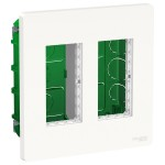 Корпус пластиковий 4 мод. 2 колони Schneider Electric Unica New System + NU172418 вбудувавши. білий